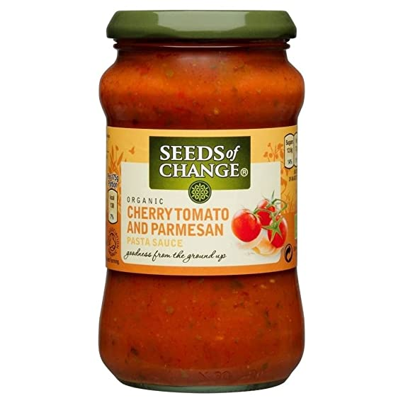 Seeds of Change Orgánica Salsa De Pasta - Albahaca, Parmesano Y Tomate Cherry (350g