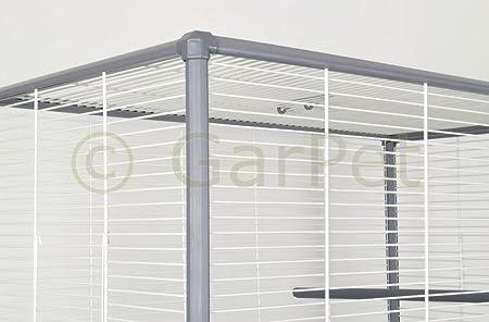 Großer Vogelkäfig Wellensittich Kanarien Papagei Käfig Vogelbauer 70 X 40 X  80cm: Amazon.de: Haustier