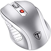 VicTsing MM057 2.4G Wireless Mouse Portable Mobile Optical Mouse with USB Receiver, 5 Adjustable DPI Levels, 6 Buttons