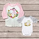 Big Sister Little Brother Shirts Onesie New Big Sister Matching Baby Shower Gift