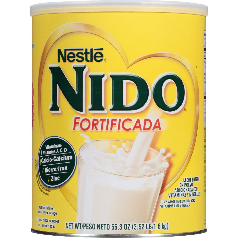 NESTLE NIDO Fortificada Dry Milk 56.3 Ounce. Canister