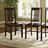 Solid Wood Dining Room Sets Solid Wood Cappuccino Dining Chairs, Set of 2