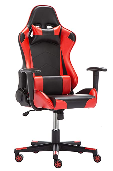 Peachy Grey Computer Chair Pu Gaming Chair With Headrestlumbar Short Links Chair Design For Home Short Linksinfo