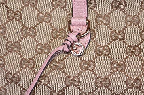 62de13ad5 Gucci Women's Large Bree GG Guccissima Purse Handbag Tote (Beige/Pink)