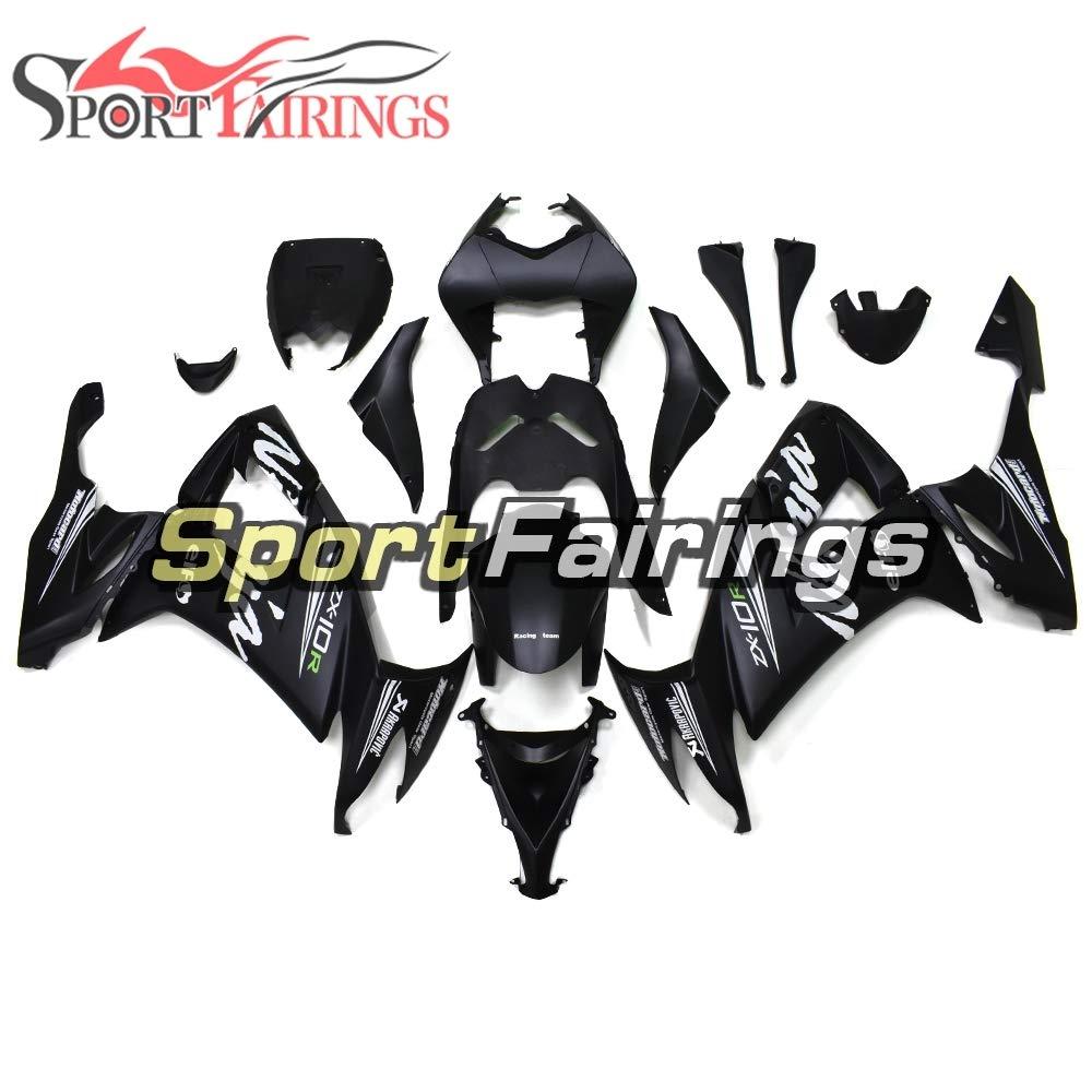 SPMOTO インジェクションマットブラックオートバイフル ABS フェアリングキット川崎 ZX10R 2008 2009 2010 09 10 Sportbike ボディカウリング   B07H7G17WP