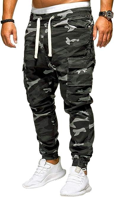Pantalones para Hombre, Chándal de Hombres Camuflaje Impresión Pantalones Ropa Gym Hombre Casuales Jogging Pantalon Trend Trabajo Largo Pantalones Deportivos Pants Trekking Hombres vpass: Amazon.es: Ropa y accesorios