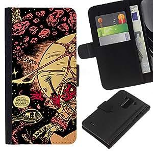 LECELL--Cuero de la tarjeta la carpeta del tirón Smartphone Slots Protección Holder For LG G3 -- Lsd psicodélico patrón --