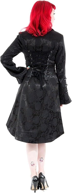 Hearts & Roses Damen H&R Andromeda Rave Goth Brokat Jacke Mantel