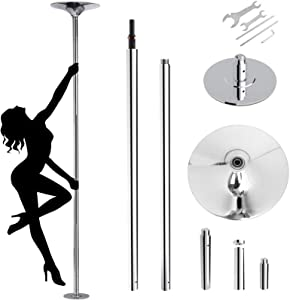 Stripper Poles for Home Spinning Static, Dance Pole Bedroom, 45 mm Portable Removable Heavy-Duty Dancing Pole for Beginners and Professionals, Party Club, Max Load 400lbs