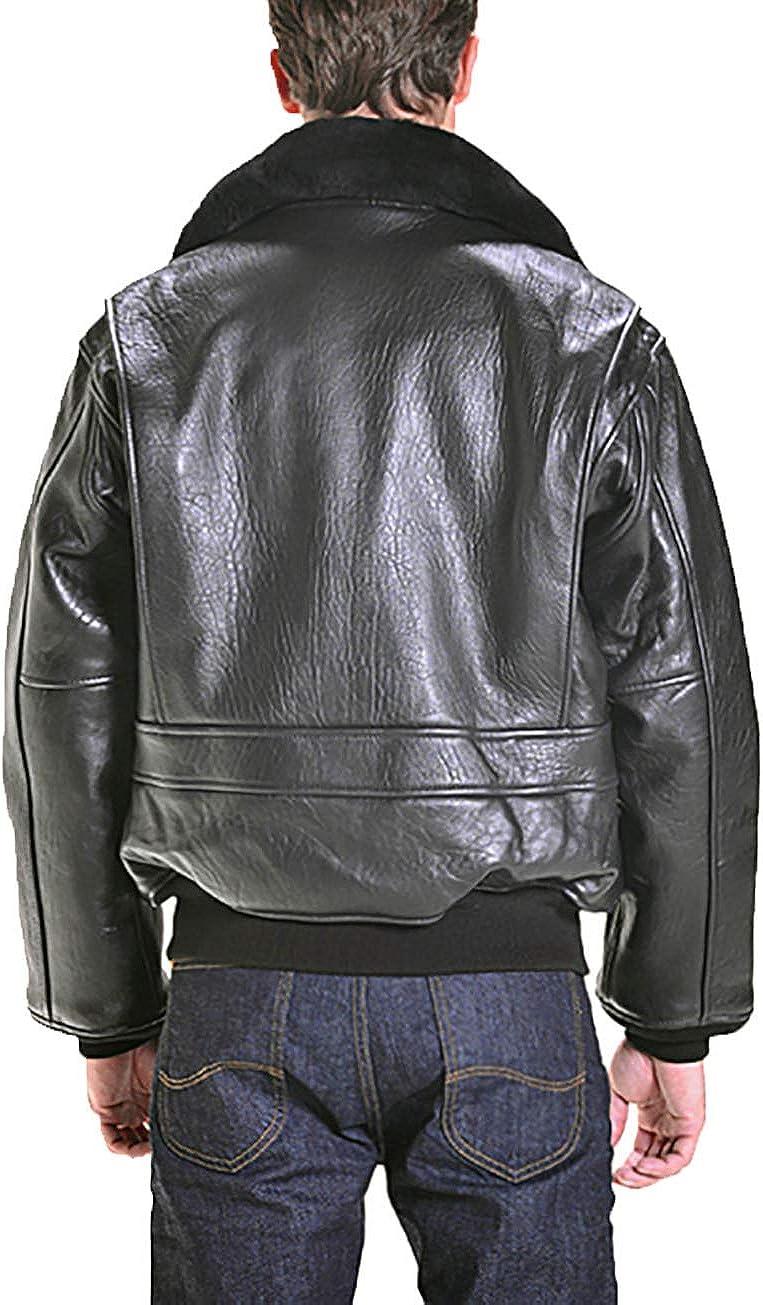 Woojo Classic Mens Real Genuine Lambskin Leather Black Jacket WJ126