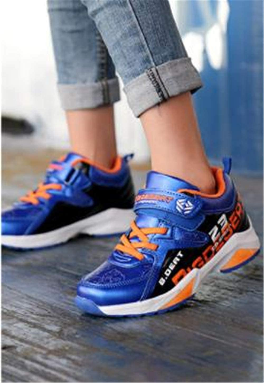 Sunny Day Boy Leather Waterproof Non-Slip Comfortable Sneakers