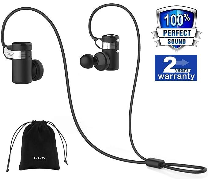 Auriculares Bluetooth auriculares inalámbricos deportes mejor Running Auriculares Hi-Fi estéreo cancelación de ruido Sweatproof para gimnasio Entrenamiento ...