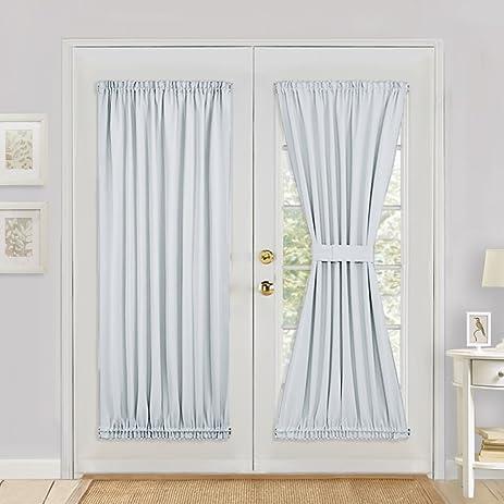 Amazon White Patio Door Curtain Panel Pony Dance Solid Energy