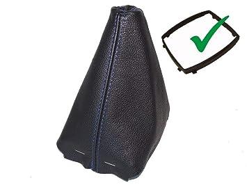 Schaltsack Schaltmanschette schwarz Leder blau N/ähten