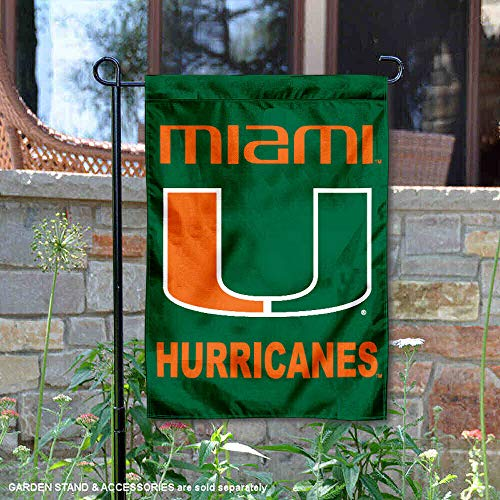 Miami Hurricanes Garden Flag and Yard Banner ()