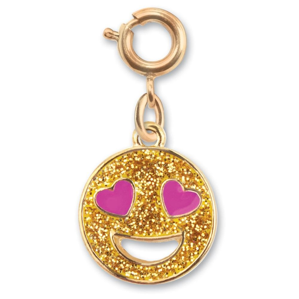 CHARM IT! Gold Collection Glitter Love Emoji Charm High Intencity B074VFPVGB_US