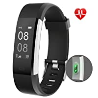 Fitness Tracker,YAMAY Activity Tracker Watch with Heart Rate Monitor Waterproof IP67 Fitness Watch,Sleep Monitor Step Counter Pedometer Watch for Women Men Call SMS SNS Push for iOS Android Phone