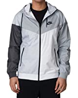 Nike Men's Windrunner Hooded Track Jacket White Grey 902353 043