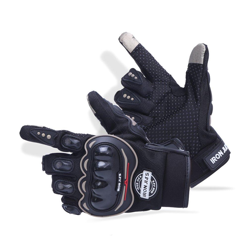 Guantes de motos motocicleta para carreras todo terreno, guantes de moto para pantallas táctiles resistentes a caídas (XXL, Black): Amazon.es: Coche y moto