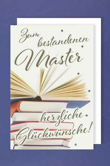 Master Grußkarte Karte Herzliche Glückwünsche Bestanden
