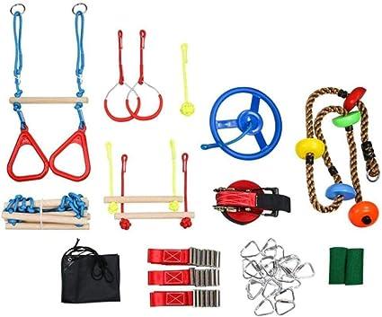 LLXY Ninja Slackline Kit Ninja Carrera de obstáculos para ...