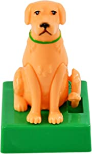 Home-X Golden Dog Solar Dancer Figure, Solar-Powered Dancing Office Desk Decor, Windowsill or Car Dashboard Decoration