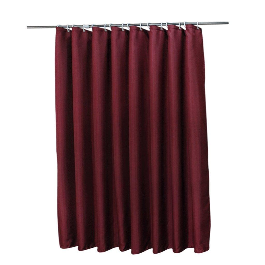 Curtain Shower Curtain, Mildew Waterproof, Partition Bathroom Insulation Curtain, Wine Red Shower Equipment (Size : 150200cm)