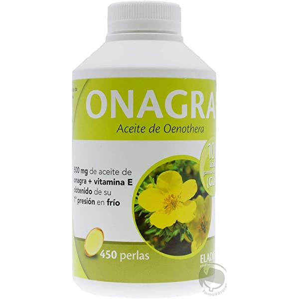 Eladiet Onagra Perlas - 450 Cápsulas: Amazon.es: Salud y cuidado ...
