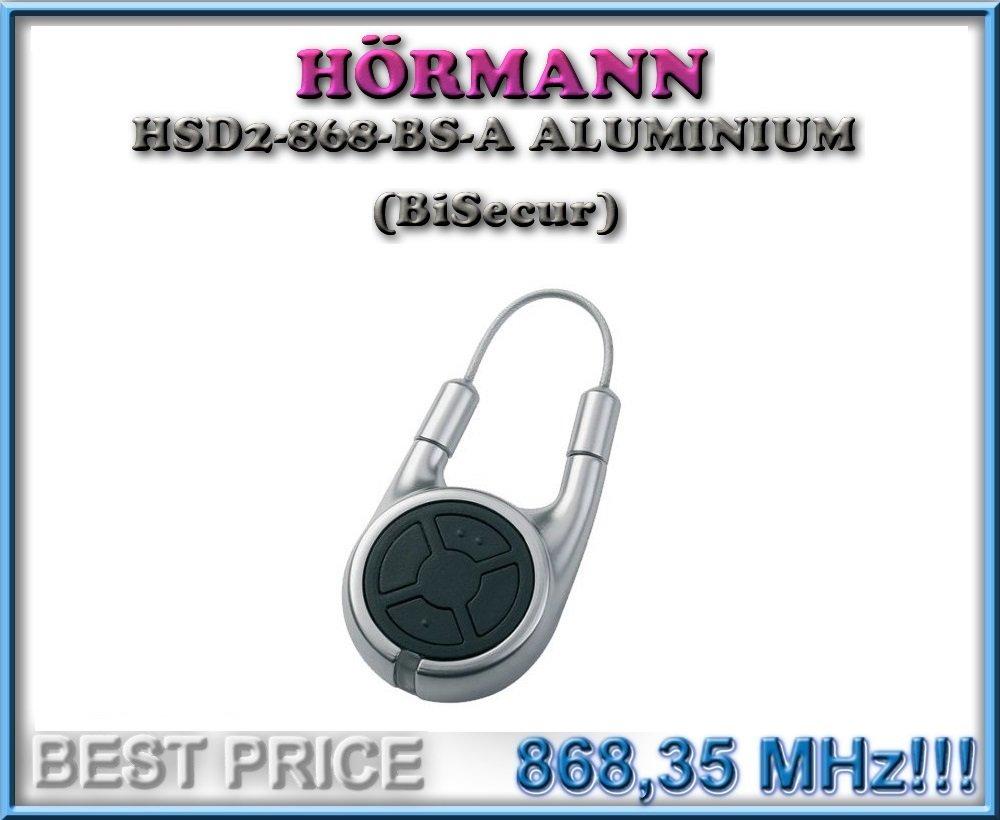 Top Qualit/ät original H/örmann fernbedienung f/ür den besten Preis!!! H/ÖRMANN HSE2-868-BS schwarz handsender 868,3Mhz BiSecur 2-kanal fernbedienung