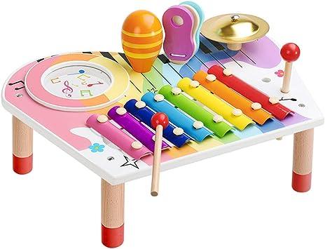 BeebeeRun Conjunto de Instrumentos Musicales para Bebés, Xilófono para Niños, Set de Regalo de Cumpleaños para Niños Niñas (10 PCS)