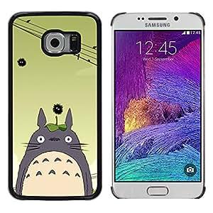 Design for Girls Plastic Cover Case FOR Samsung Galaxy S6 EDGE Totoro Cute OBBA