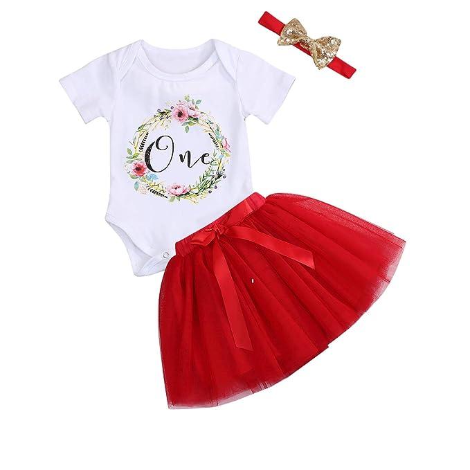 Amazon.com: Conjunto de 3 faldas tutú de tutú para bebé y ...