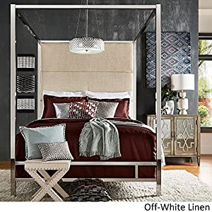 8. iNSPIRE Q Evie Chrome Metal Canopy Bed