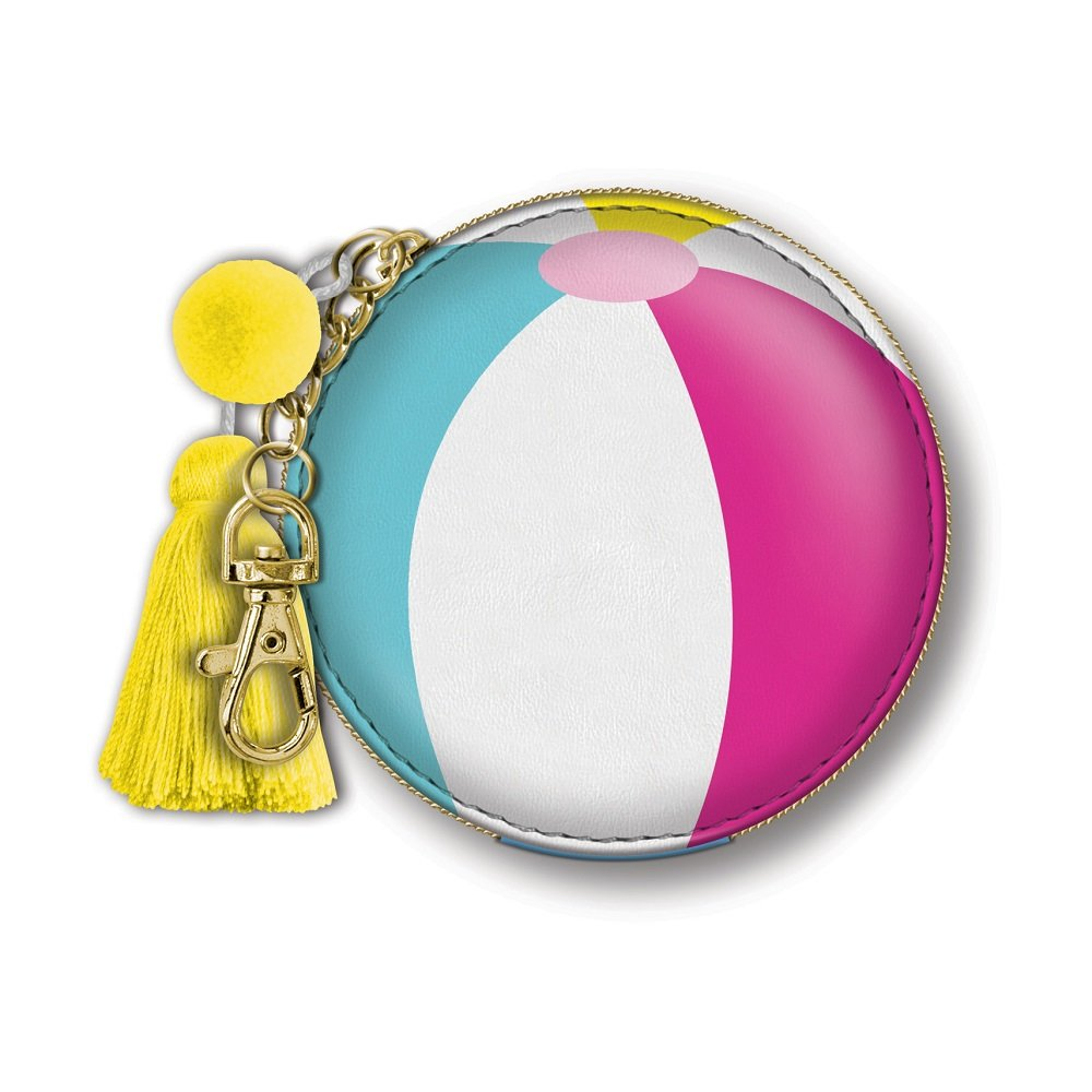 Punch Studio Lady Jayne 4 x 3 inches Zip Pouch (Beach Ball)