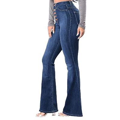 Ansenesna Mujer Pantalones Tallas Grandes Elasticos Invierno Talle Alto Skinny Denim Jeans Stretch Slim Pants Vaqueros Longitud Pantorrilla: Ropa y accesorios