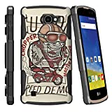 MINITURTLE Case Compatible w/LG K4 Case| Zone 3 Case| LG Spree | Rebel LTE Case Full Body [Clip Armor] Shell Belt Holster Clip Case w/Design - Custom Copper Speed Demon