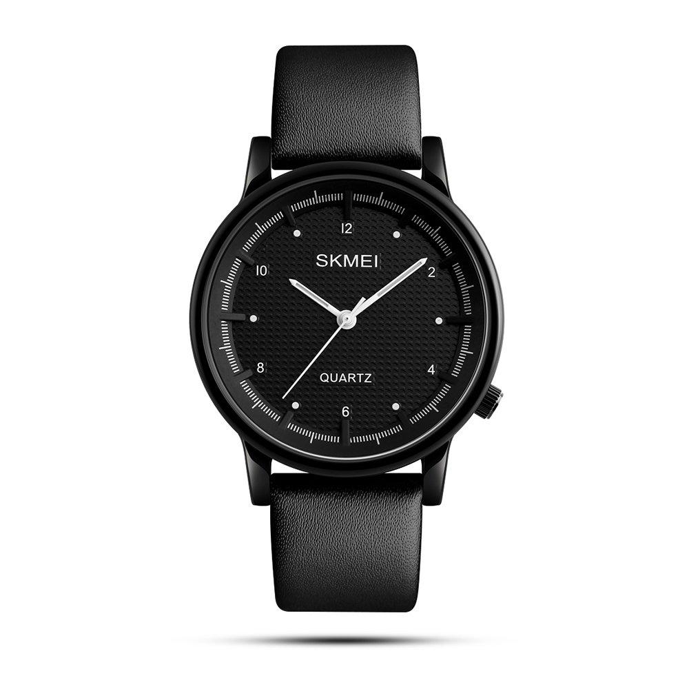 Women's Business Quartz Watch With Light Weight Leather Strap Waterproof Wrist Watches - Black
