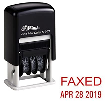 Amazon Shiny Self Inking Rubber Date Stamp