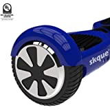 """Self Balancing Scooter (MAX 264 lbs), Skque 6.5"""" X1L6.5 UL2272 Smart Two Wheel Self Balancing Electric Scooter with Bluetooth Speaker and LED Lights, Black"""