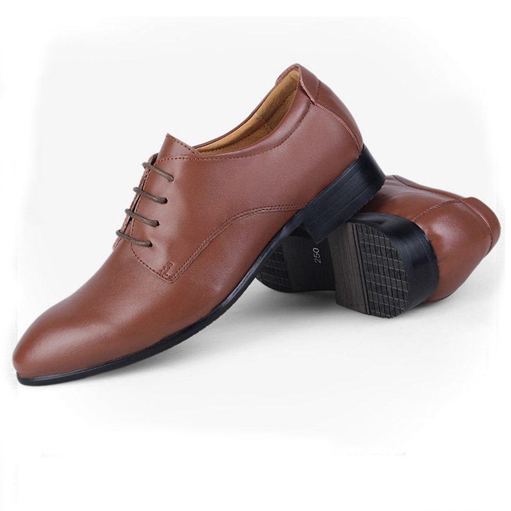 Herren Brogue Schuhe Auto Nähte Gummi Leichtgewicht Sohle Business Freizeit Gemütlich Leichtgewicht Gummi Spitze Zehen Abriebfest Derby Schnürhalbschuhe Hellbraun 3b8b27