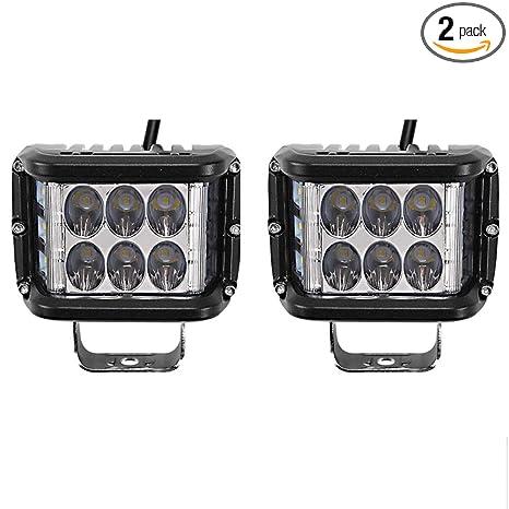 4inch 90W CREE Work Cube Side Shooter LED Light Bar Spot Flood Driving Fog Light