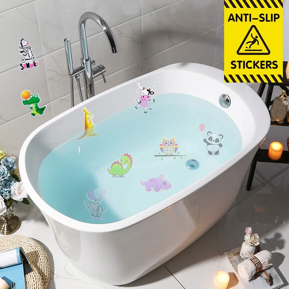 Wasserdicht selbstklebend Badewannenaufkleber Karikatur Abziehbild f/ür Kinder Badausstattung HANGNUO Antirutsch Aufkleber f/ür Dusche Badewannen Zootier, 20 St/ück