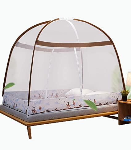 Faltbares Bett-Moskitonetz 3 Seitliche /Öffnungen Hochwertige Baldachin /&Leichte Materialien F/ür Doppelbett /& Einzelbett,120x200x150cm GYHONG Tragbares Reise-Moskitonetz