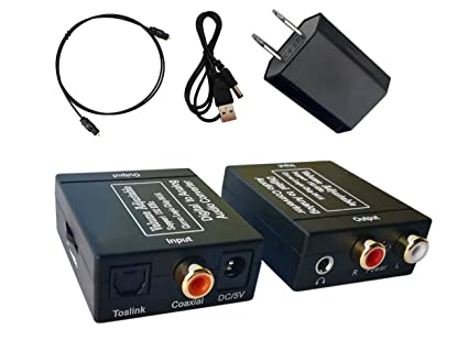 EULAN 192kHz DAC Converter Digital Optical to Analog Converter Coaxial Toslink S/PDIF to Analog