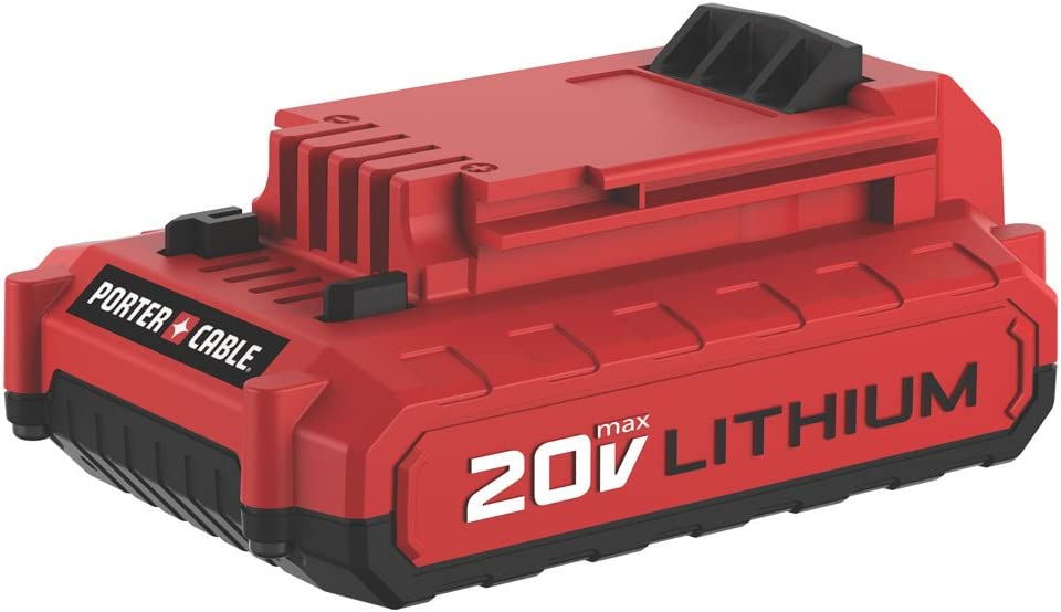 PORTER-CABLE 20V MAX Lithium Battery, 2.0-Amp Hour (PCC682L),Red, Black