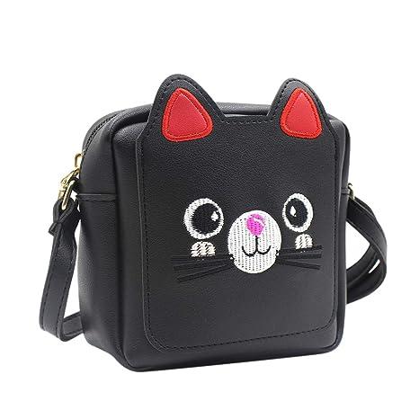 Amazon.com  Kids Girls  Cute Cat Crossbody Shoulder Bag Small Satchel Handbag  Purse Schoolbag  Clothing 3015de46a148a