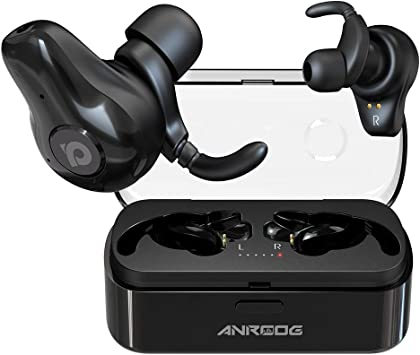 Amazon Com Wireless Earbuds Anroog A10 Bluetooth 5 0 Noise Canceling Earbuds W Charging Case Extra Long Playtime 40hrs Truly Wireless Surround Sound Headphones For Music Lovers Professionals Built In Mic Black Home Audio Theater