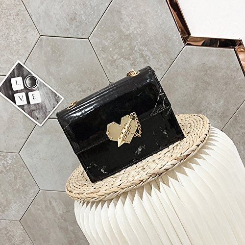 WSLMHH nero della marea borsa catena moda versione tracolla selvaggio nero coreana a nbsp;La catena Messenger tracolla a bag rqwAar