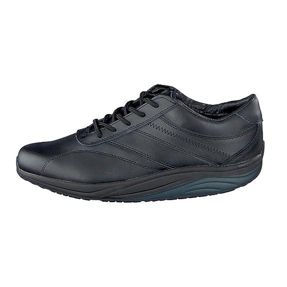 Vivality Mujer Piel Zapatos de Camarero de, 112576 In Negro - Negro, 40