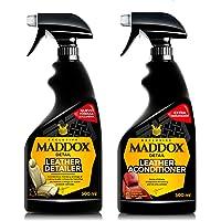 Maddox Detail - Kit de limpieza cuero y piel Pack Ahorro | Acondicionador y limpiador de cuero y piel | pack de dos productos